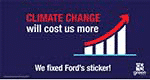 Climate Change Free Stickers