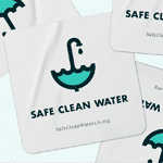 Safe Clean Water Free Stickers